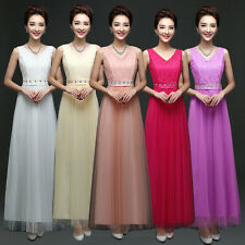 Women Formal Wedding Bridesmaid Dress Ladies Evening Party Prom Long Ball Gown