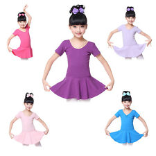 Kids Toddler Girls Gymnastic Leotard Dress Ballet Dance Tutu Skirt Dancewear