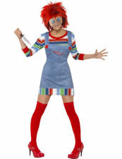 Adult Miss Chucky Halloween Costume Ladies Fancy Dress Childs Play Outfit