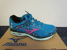 Mizuno Womens Wave Inspire 10 Running Shoes Sneakers, Sea/Pink/Hnydew 7 M US