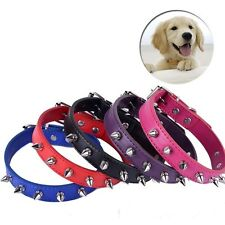Fashion Sharp Spiked Studded Leather Dog Collars Adjustable Buckle Puppy Pet Dog