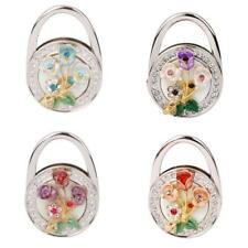 Flower Rhinestone Folding Handbag Tote Purse Hanger Hook Holder 4 Colors