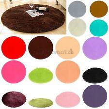 80cm/100cm Fluffy Rug Anti-Skid Soft Shaggy Area Rug Room Carpet Comfy Floor Mat