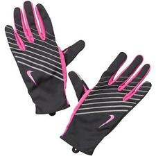 Womens Nike Lightweight Tech Running Gloves Black Fuschia Key Pocket S, M