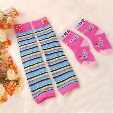 1 Pair Cotton Kids Multicolor Baby Leg Warmers Leggings+1 Pair Stockings Socks