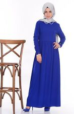 Sefamerve Saxon Blue Hijab Dress