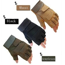 Military Tactical Airsoft Hunting Assault Swat Paintball Half-Finger Gloves Ride