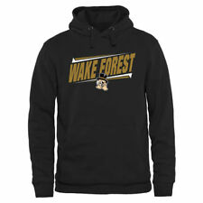 Wake Forest Demon Deacons Black Double Bar Pullover Hoodie