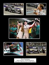 Nico Rosberg 2016 F1 Champion Mercedes AMG Mounted Photo Compilation Gift