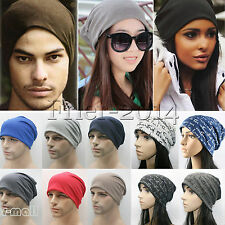 Unisex Men Women Beanie Hat Winter Warm Ski Slouch Skullcap Outdoor Skateboard