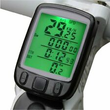 Hot Waterproof Wired Bike Bicycle Computer Odometer Speedometer LCD Backlight IG