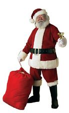Velvet Santa Claus Suit Adult Costume, Red/White, Rubies, Jolly Saint Nick