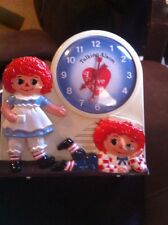 Vintage Raggedy Ann And Andy Talking Alarm Clock By Janex