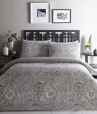 NATURAL REVERSIBLE PAISLEY INDIAN ETHNIC DESIGN BEDDING DUVET COVER SET LUXURY