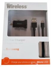 USB Car Charger & Micro USB 5ft Sync & Charge Cable for Smartphones & Tablets
