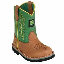 John Deere Infant Tan/ Green Boots Style JD1186 NWT