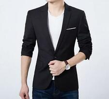 Mens Slim Fit Stylish Casual Coat Fashion One Button Suit Jacket Blazer New Tops