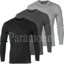 Brave Soul Knitted Stretch Ribbed Jumper    Mens Size