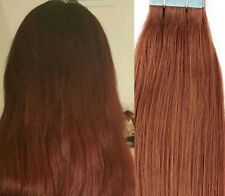 "18"",20"" 100gr,40pc,Human Tape In Hair Extensions #30 Medium Auburn"