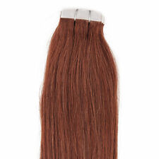 "18"",20"" 100gr,40pc,Human Tape In Hair Extensions #33 Dark Auburn"