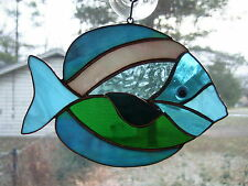 Handmade Stained Glass Tropical FISH SUNCATCHER (FH39)