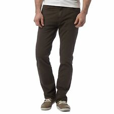 Rjr.John Rocha Mens Khaki Straight Leg Trousers From Debenhams