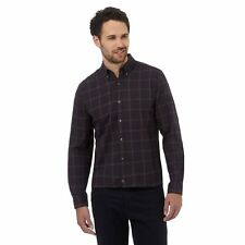 J By Jasper Conran Mens Big And Tall Navy Windowpane Checked Shirt