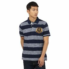 St George By Duffer Mens Big And Tall Navy Stripe Polo Shirt From Debenhams