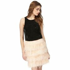 Butterfly By Matthew Williamson Womens Black Bead Embellished Top From Debenhams