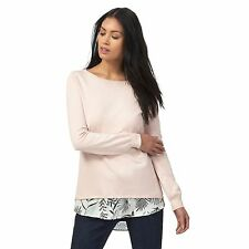 The Collection Petite Womens Light Pink 2-In-1 Petite Jumper From Debenhams
