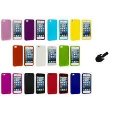 Hard Snap-On Rubberized Case Skin Cover Accessory+Mini Stylus for iPhone 5 5S