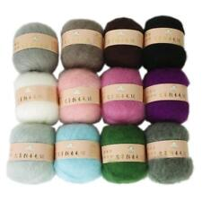High Quality Skein Angola Mohair Cashmere Wool Knitting Yarn Craft Multicolor