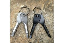 2 Keys Stainless Keychain Pocket Tool Screwdriver Set EDC Outdoor Multifunction