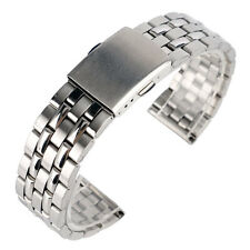 18/20mm Men Silver Stainless Steel Watch Band Wrist Strap Bracelet Watchband HQ