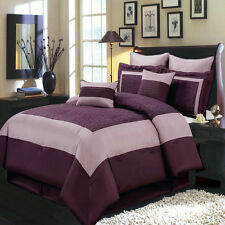King Size 8PC Wendy Bedding Set Includes Comforter Skirt Shams & Pillows