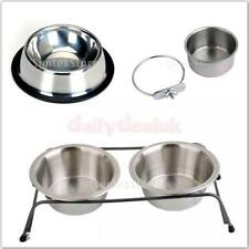 Single/Double/Hanging Raised Bowl Dog Cat Bird Feeding Bowl Pet Water Feeder