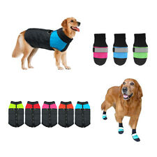 Waterproof Small/Large Pet Dog Jacket Coat Boots Shoes Winter Warm Protective