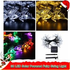20ft 30LED Deer Fairy String Lights Xmas Decor Tree Party Festival Solar Powered