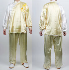 Tai Chi Chuan Uniforms Kung Fu TaiChi uniform Dragon Yellow Wushu KungFu suit