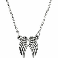 14 Karat Gold Petite Angel Wings Pendant Necklace