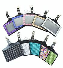 Full Bling Rhinestone Multi-Color Horizontal ID Badge Holder with Alligator Clip