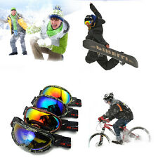 Outdoor Safety Night Vision Goggles Cycling Anti Fog Wind Bikes Ski Glasses