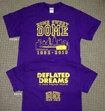 MINNESOTA VIKINGS HOME SWEET DOME TSHIRT 1982-2013 METRODOME COMMEMORATIVE