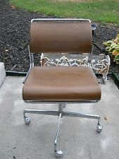 vintage mid century harter office desk chair bela stackable office chair
