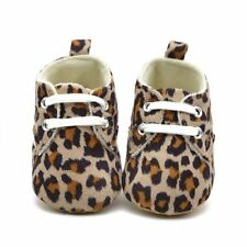 Toddler Baby Boy Girl Soft Sole Sneaker Crib Shoes 0-18 Months Leopard Sneaker