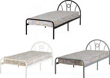 Nova 3FT Single Bed Frame In SILVER WHITE and BLACK Finish Single Bed Frame Only