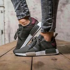 ADIDAS NMD RUNNER R1 ULTILITY GREY/MAROON BRAND NEW IN BOX ALL SIZES BA7752