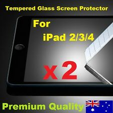 Scratch Resist Tempered Glass LCD Screen Protector for Apple iPad 4 3 2 (Clear)