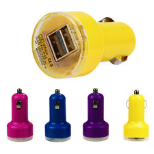 New Bullet Adaptor Dual USB 2-Port Car Charger For iPhone iPod Touch YE
