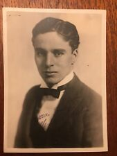 Charlie Chaplin Stamp Signed Publicity Photograph